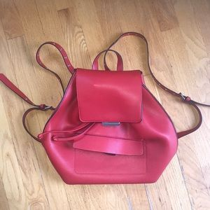 Zara red backpack great condition.